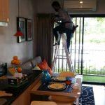 ติดตั้งกล้องวงจรปิดระบบ IP Camera @123 Resident Sriracha