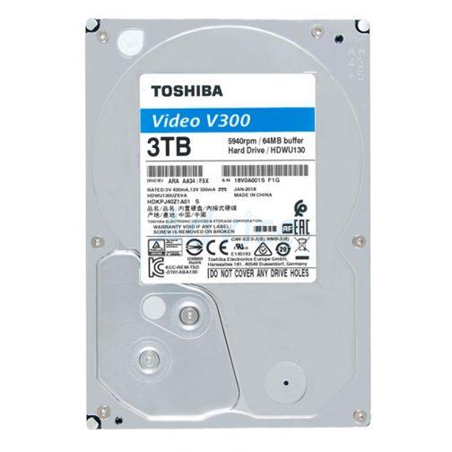 3 TB SATA-III Toshiba V300 Blue (64MB., 5940RPM) For CCTV